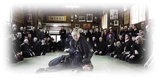 Hatsumi Sensei fighting